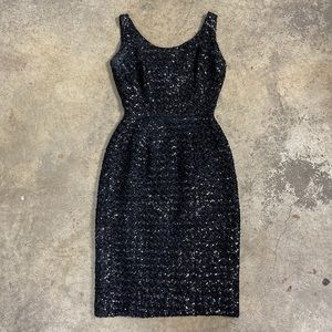 Vintage 60's Sequin LBD Classic Wiggle Dress